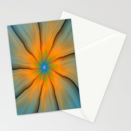 Cracked in Blue Orange and Green Stationery Cards