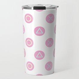 Gamer Girl - Pastel Controller Buttons Travel Mug