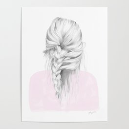 Braid in pink Poster