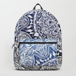 Blue Gradient Mandala Backpack