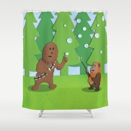 SW Kids - Chewie Bubbles Shower Curtain