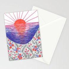 Cliff Top Sunset Stationery Cards