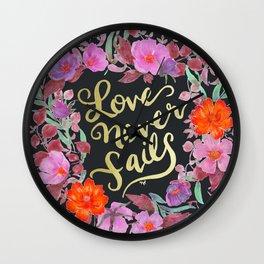 Love Never Fails -  1 Corinthians 13:8 Wall Clock