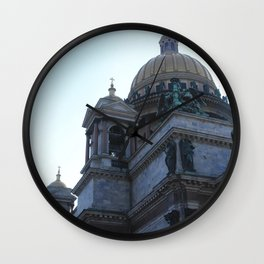 The architecture of St. Isaac's Cathedral. Wall Clock