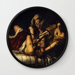 JUDITH BEHEADING HOLOFERNES - GENTILESCHI Wall Clock