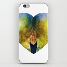 Apple Bottom Heart iPhone Skin
