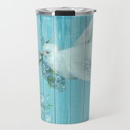 Shabby Chic Dove Of Peace Travel Mug