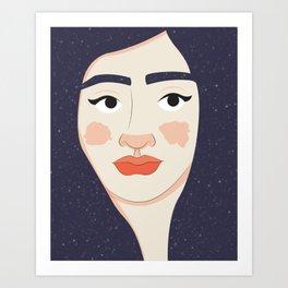 Space Geisha – White Complexion Art Print