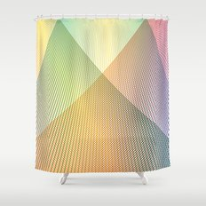 Gradient Strings Shower Curtain