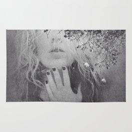 Soul - surreal dreamy portrait, woman nature photo, spiritual portrait Rug