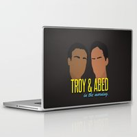 caleb troy Laptop & iPad Skins featuring Troy & Abed In The Morning - Community by Tino-George