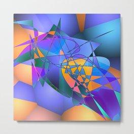 Violet Orange Magenta Abstract Metal Print