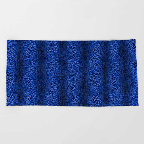 Wild Blue Leopard Beach Towel