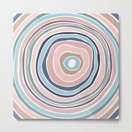 Pastel Tree Ring / Abstract Shapes Metal Print