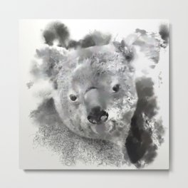 Animals and Art - Koala Bear Metal Print