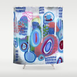Abstract Drips Shower Curtain