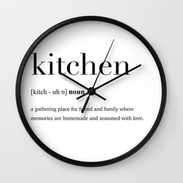 Kitchen definition Wall Clock