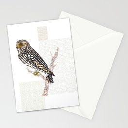 Hawk Owl Watercolour Stationery Cards