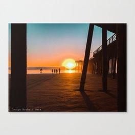 Pier Beauty Canvas Print