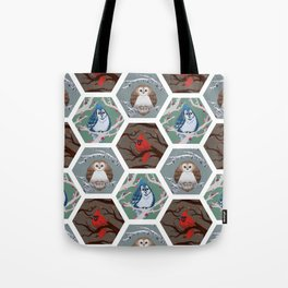 Fat Birds Pattern Tote Bag