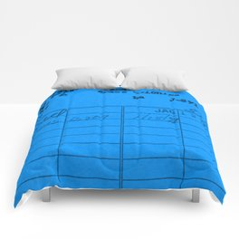 Library Card 797 Blue Comforters