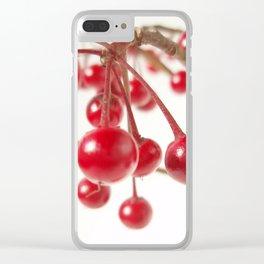 Ardisia Crenata Clear iPhone Case