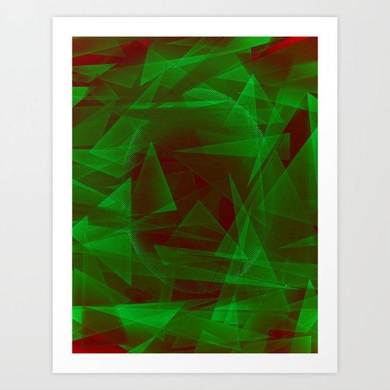 Green Eyed Monster Art Print
