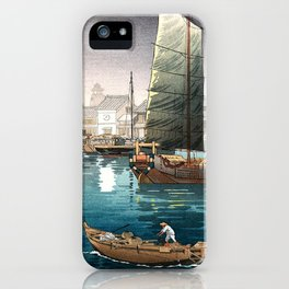 Tsuchiya Koitsu - Akashi Bay, Inland Sea at Seto - Japanese Vintage Woodblock Painting iPhone Case