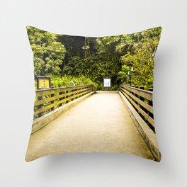 """""""The Bridge"""" Throw Pillow"""