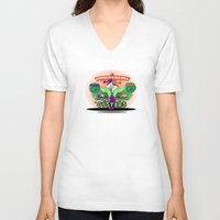 arsenal V-neck T-shirts featuring Oysters In A Halfshell by Chefleclef