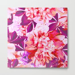 Beautiful Peony Flower Bouquet in Pink and Purple Colors #decor #society6 #buyart Metal Print