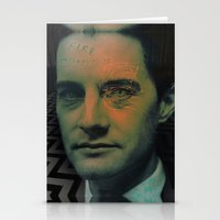 dale cooper Stationery Cards featuring Special Agent Dale Cooper by András Récze