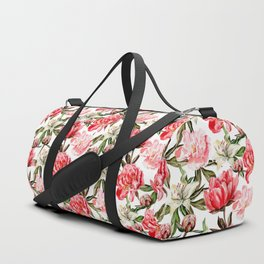 Peonies and Lilies - flower pattern no 1 Duffle Bag