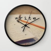 write Wall Clocks featuring write by KimberosePhotography