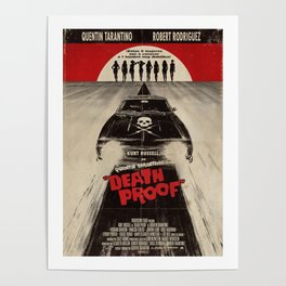 Death Proof Movie Poster Written And Directed By Quentin Tarantino Spanish Version Artwork, Posters, Poster