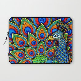 Colorful Paisley Peacock Rainbow Bird Laptop Sleeve