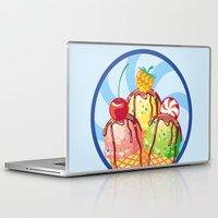 ice cream Laptop & iPad Skins featuring Ice cream by LaDa