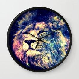 Galaxy Lion : Deep Pastels Wall Clock