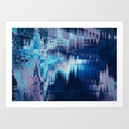 blue abstract background texture Art Print