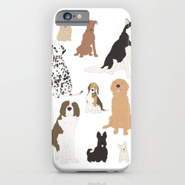 All Kinds of Dogs iPhone Case