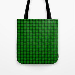 Small Green Weave Tote Bag