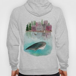 A whale is passing by Hoody