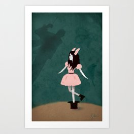 Magician's Little Bunny Art Print