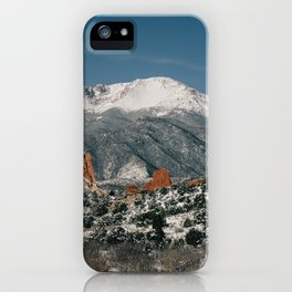 Snowy Mountain Tops iPhone Case