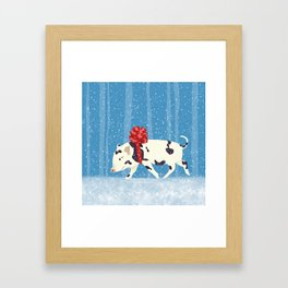 Cute Little Pig Holiday Design Framed Art Print