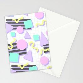 Pastel Retro 80s/90s Geometric Pattern Stationery Cards