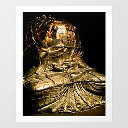 Gold Budda Art Print