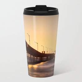 Street Lights on The Pier Travel Mug