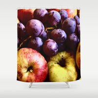 fruits Shower Curtains featuring FRUITS by MehrFarbeimLeben