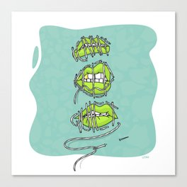 ICANT KEEP QUIET. Feminist poster Canvas Print